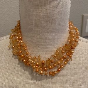 Jewelry - Multi strand real freshwater pearl necklace